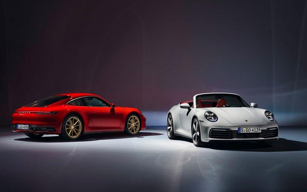 Imagen de los nuevos Porsche 911 Carrera en versión coupé y cabrio
