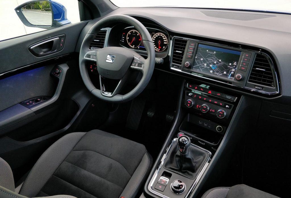 Imagen del interior de un Seat Ateca