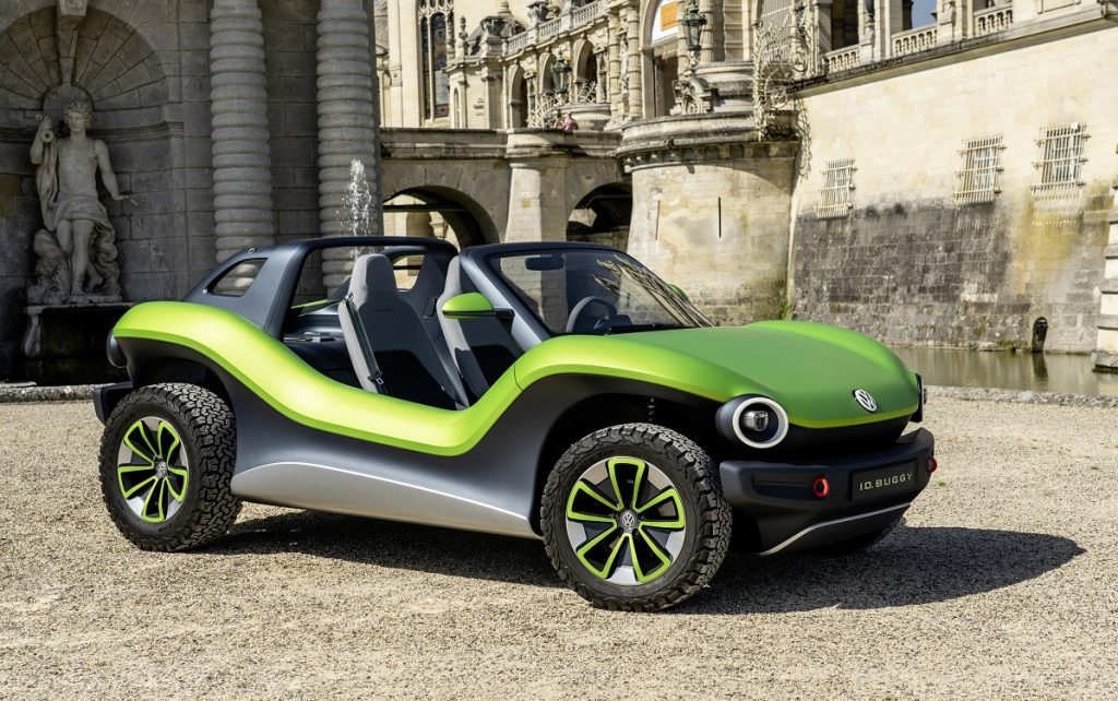 Imagen del nuevo VW ID Buggy tres cuartos delantero