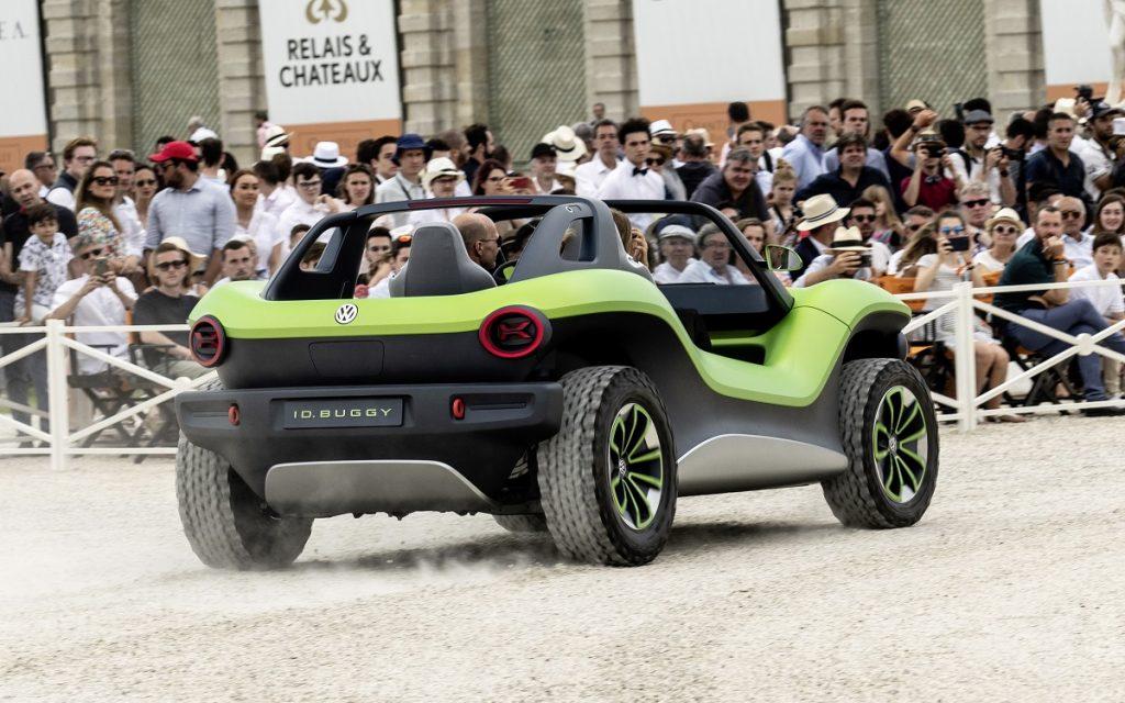 Imagen del nuevo VW ID Buggy tres cuartos trasero