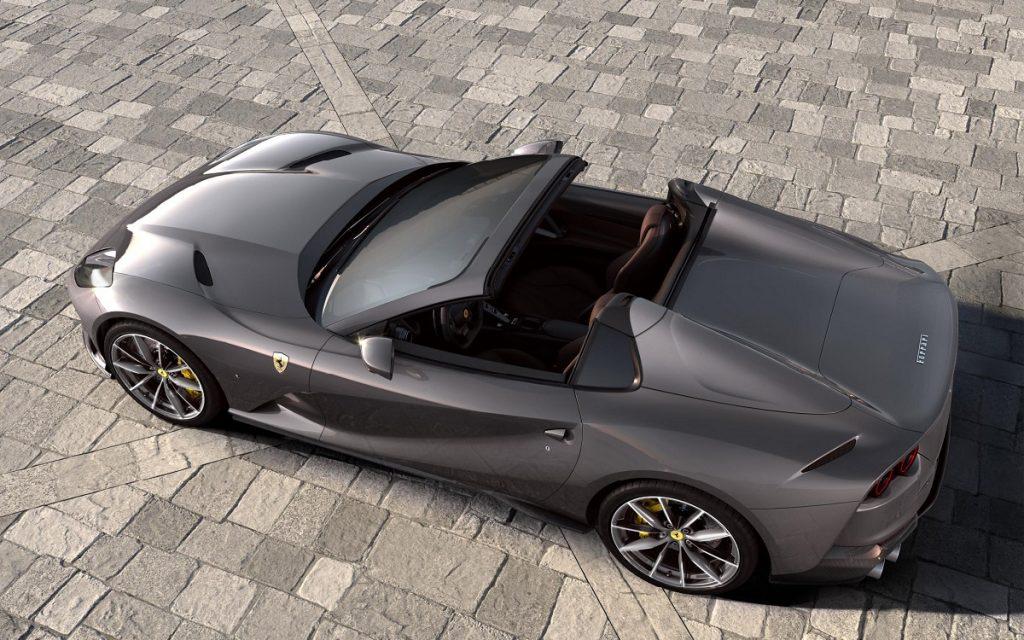 Vista superior del Ferrari 812 GTS