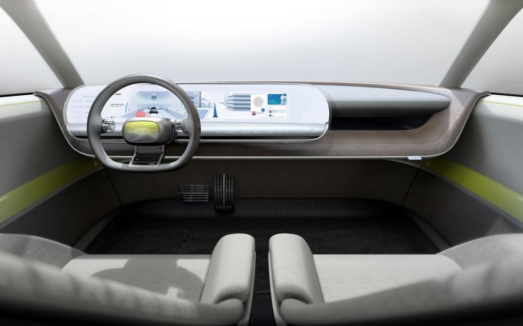 Interior del Hyundai EV 45 Concept