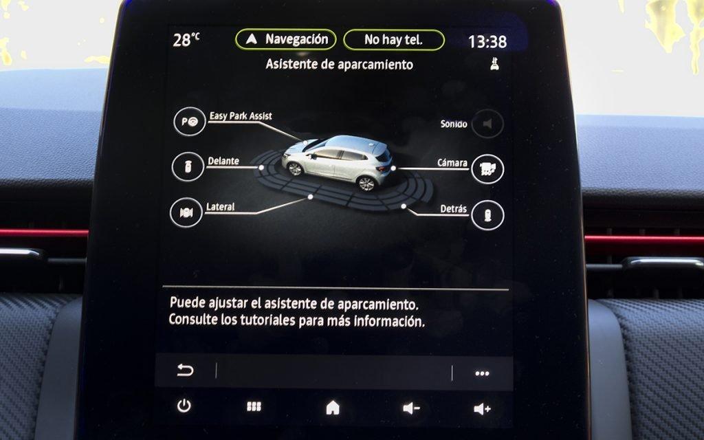 Pantalla de ADAS del Renault Clio V
