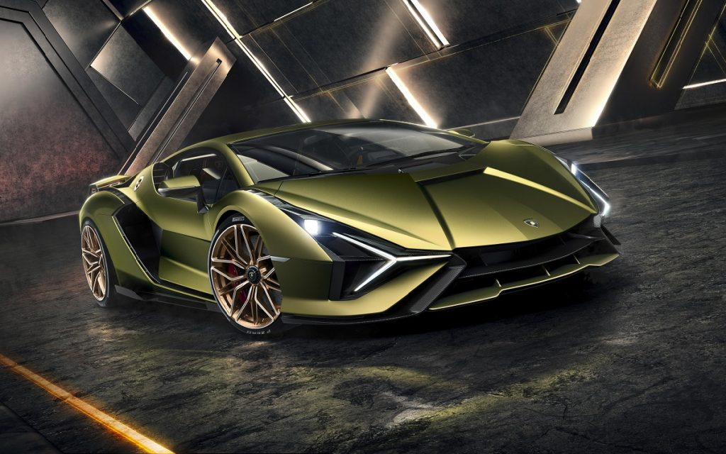 Imagen frontal del Lamborghini Sián