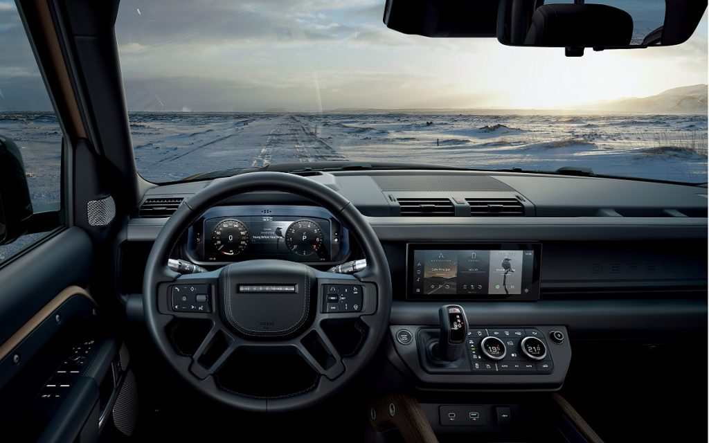Interior del Land Rover Defender