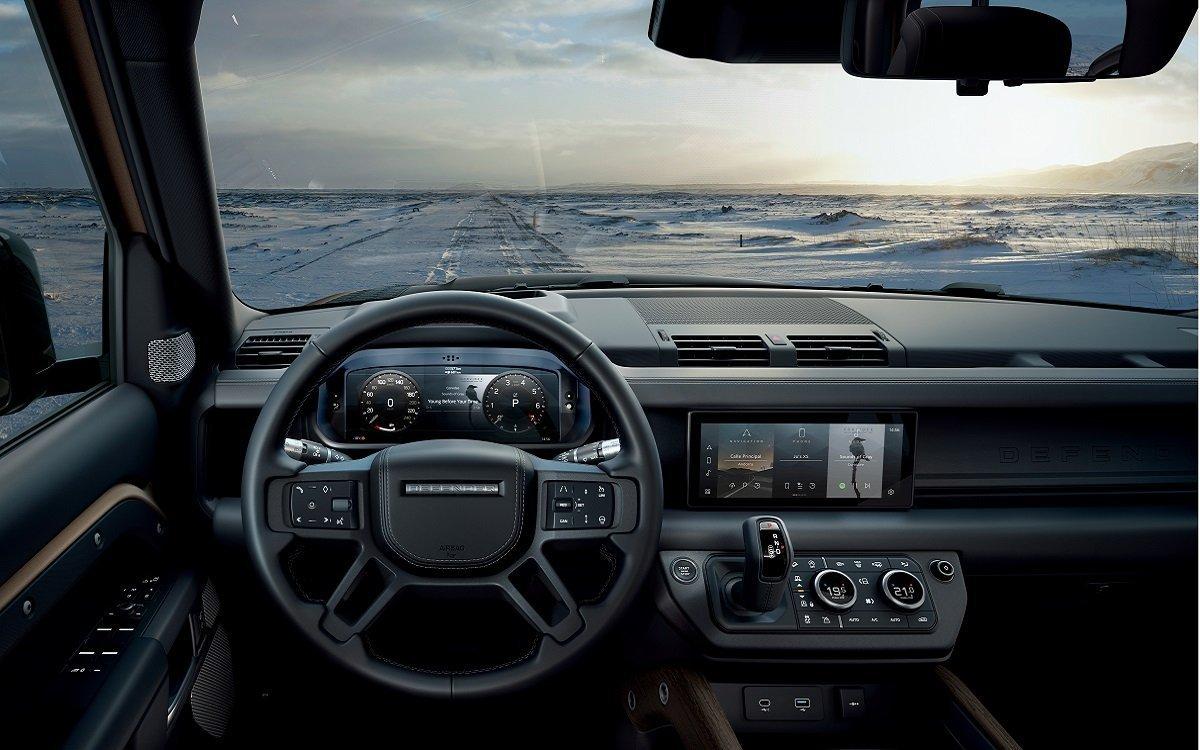 Interior del Land Rover Defender