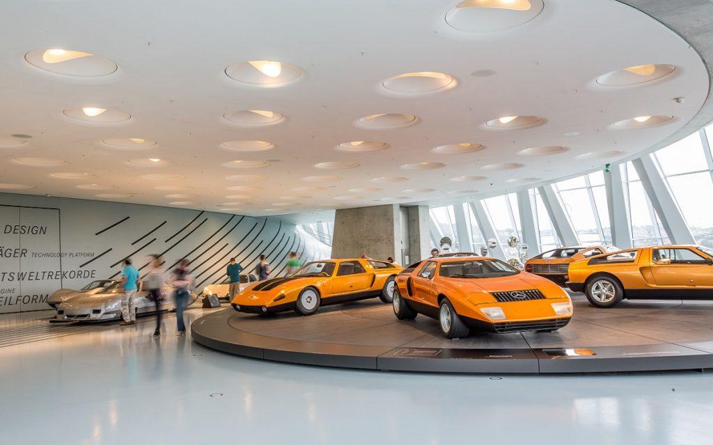 Imagen de los Mercedes C 111 en el Museo Mercedes