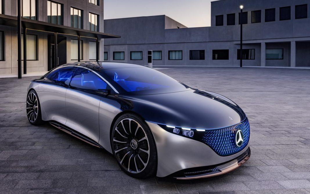 Imagen frontal del Mercedes Vision EQS