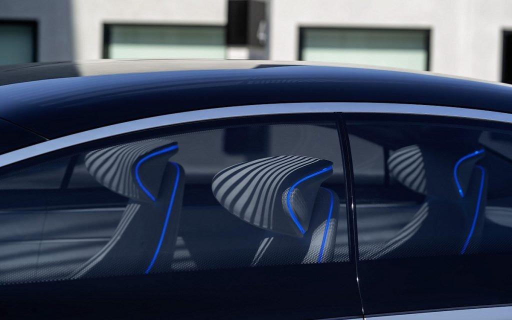Detalle del interior del Mercedes Vision EQS