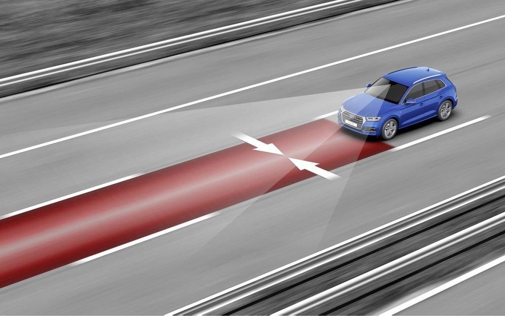 Imagen del sistema de mantenimiento de carril del Audi Q5