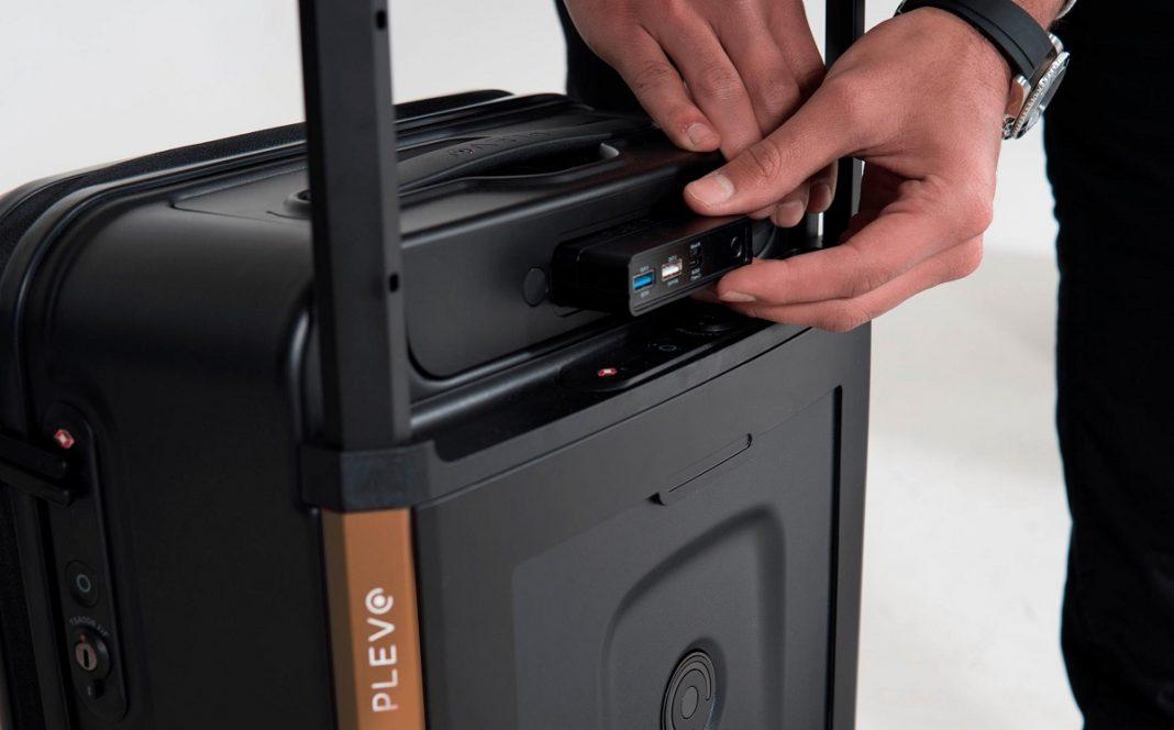 Imagen de detalle de la nueva maleta de Plevo