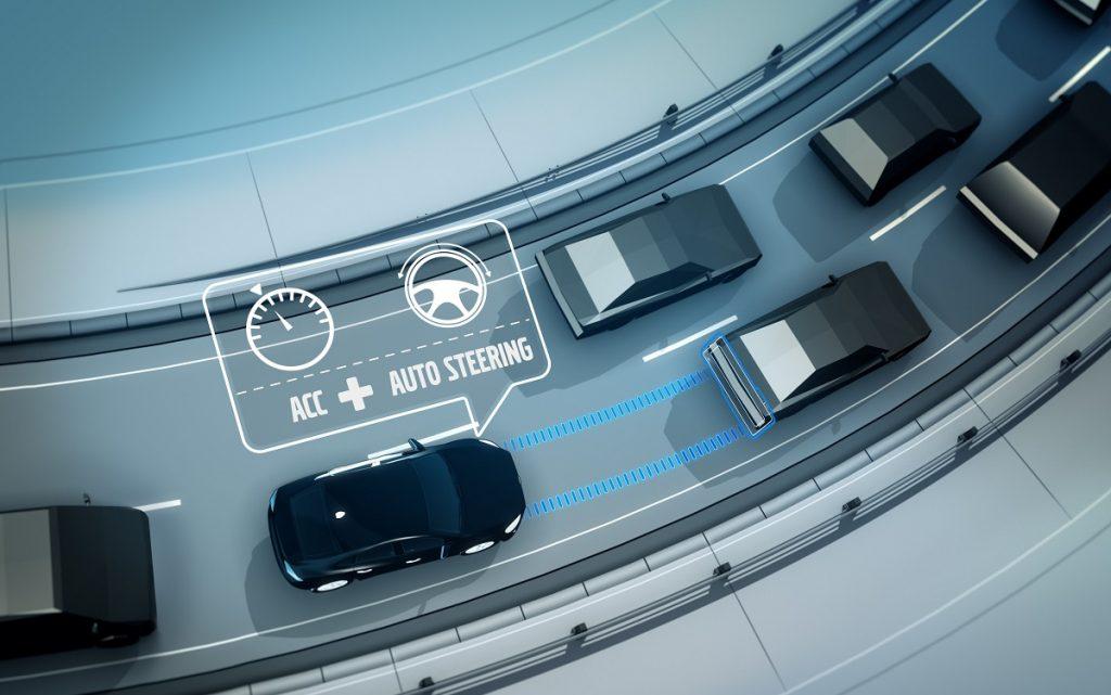 Imagen del sistema de mantenimiento de carril de Volvo