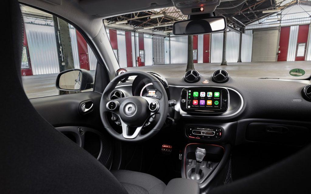 Imagen del interior del Smart Fortwo 2020