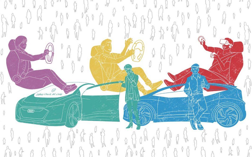 Imagen artística de los tipos de usuario de coches autónomos