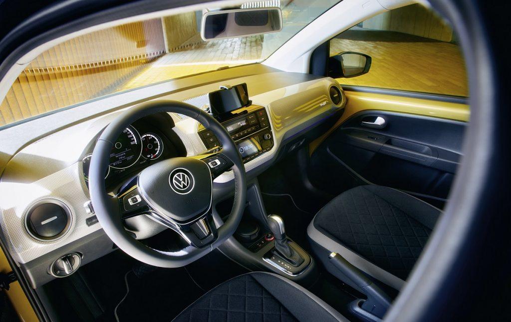 Imagen del interior de un VW e-Up! 3