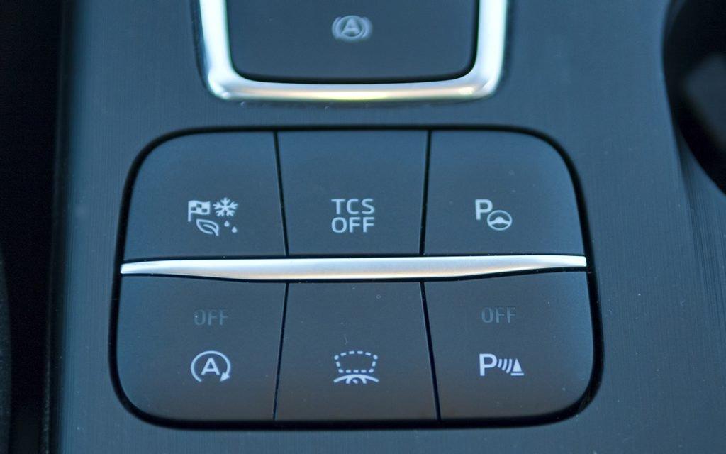 Detalle de botones en el Ford Focus ST Line