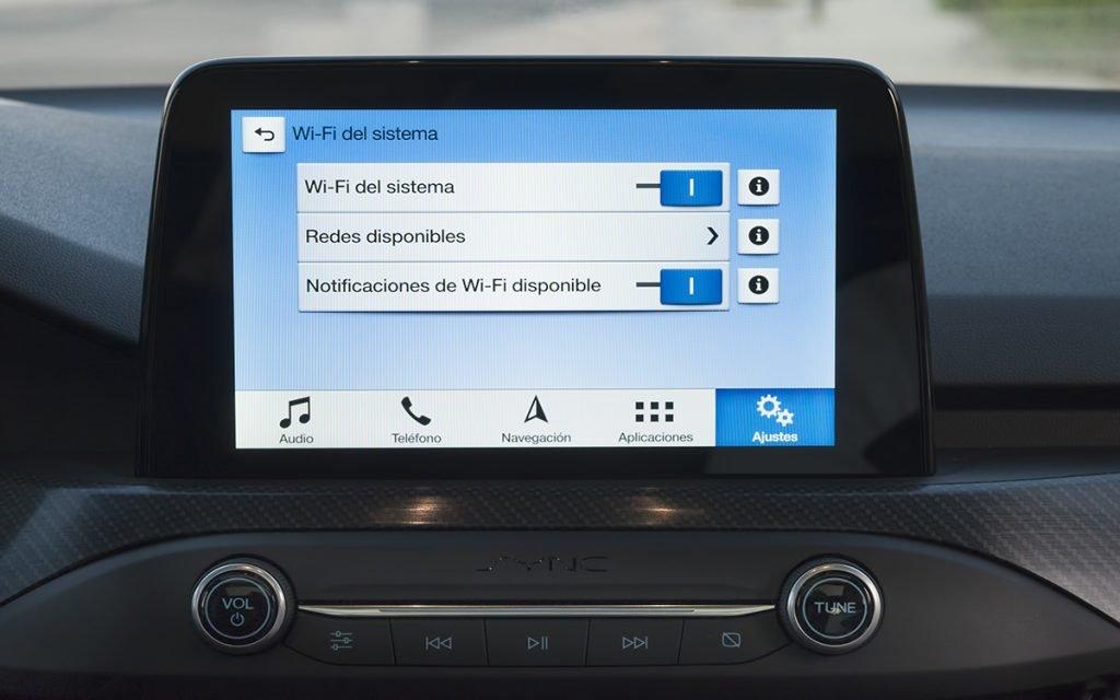 Pantalla WiFi del sistema SYNC 3 en el Ford Focus ST Line