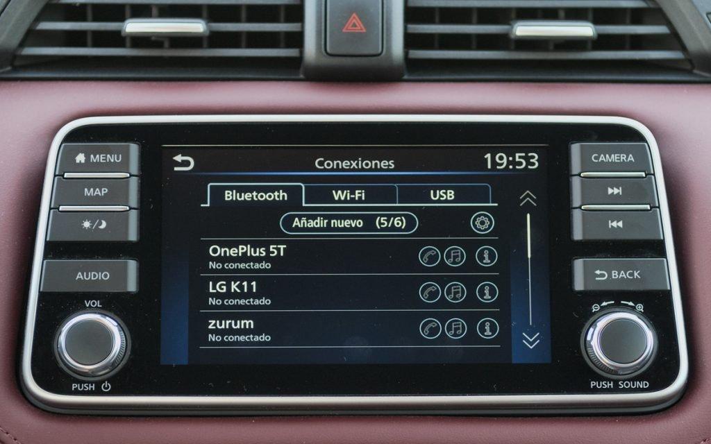 Menú de Bluetooth del Nissan Micra Tekna