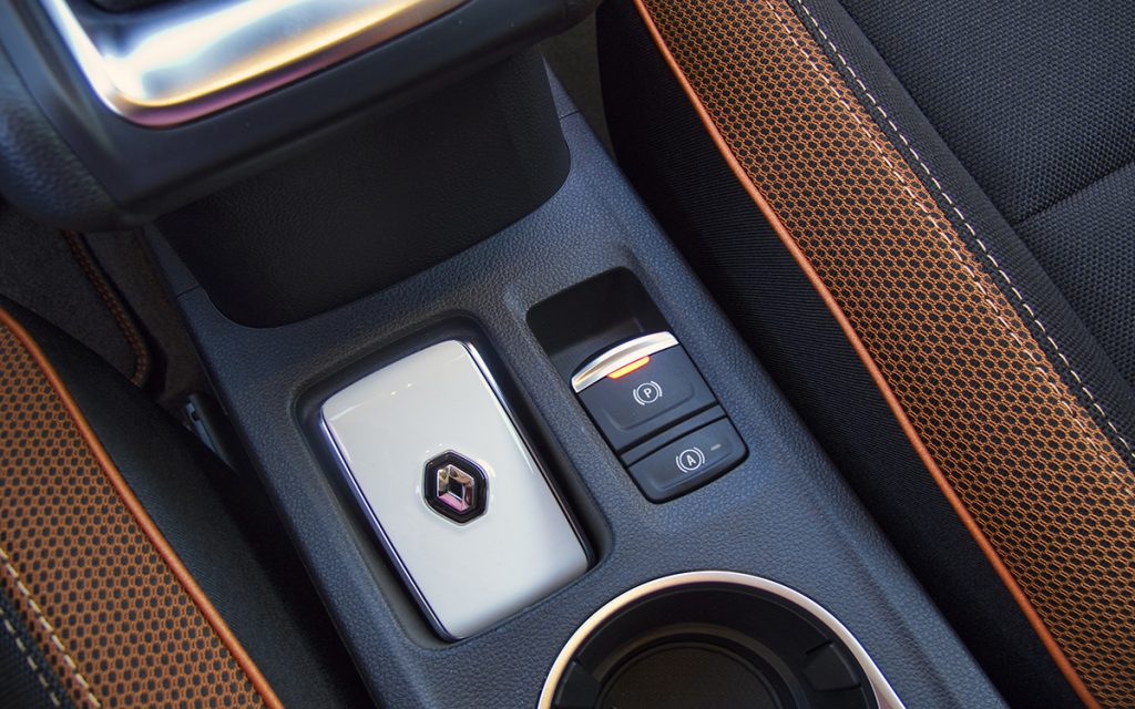 Detalle de la llave inteligente del Renault Captur
