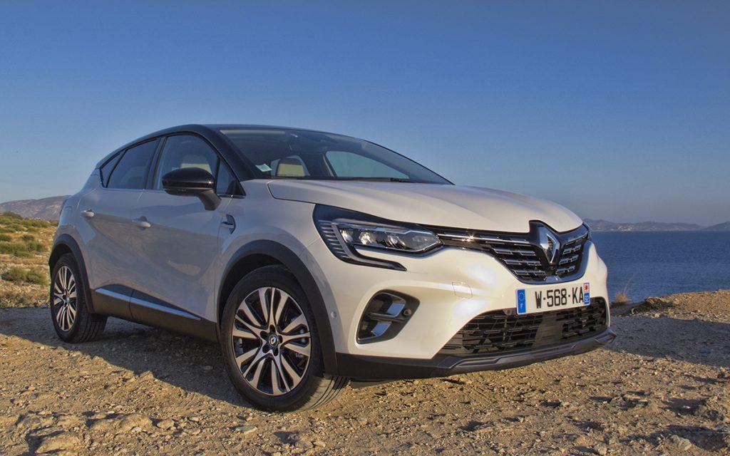 Imagen tres cuartos frontal del Renault Captur