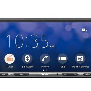 Imagen de un equipo de sonido Sony con Android AUto y Apple Car Play