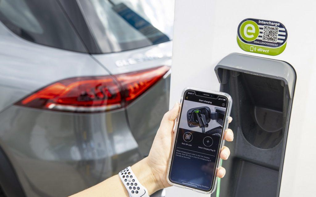 Imagen de la app para controlar el sistema de recarga de los Mercedes GLE y GLC PHEV