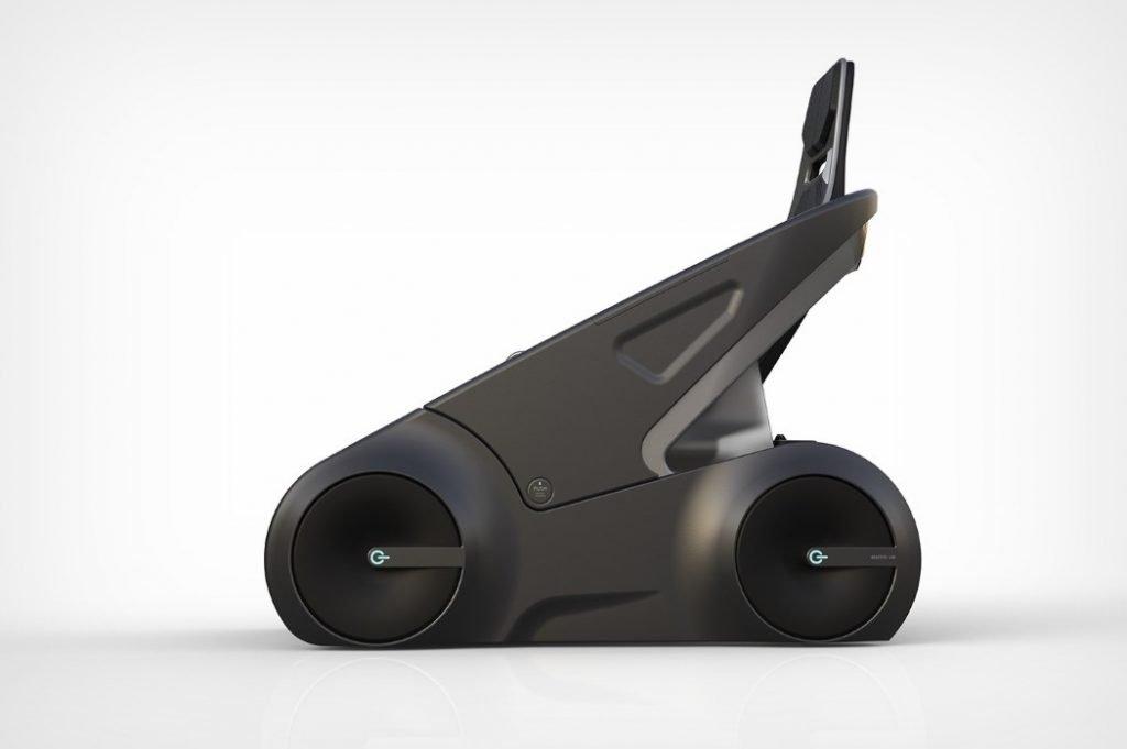 Vehículo eléctrico Alexander Zhukovsky lateral