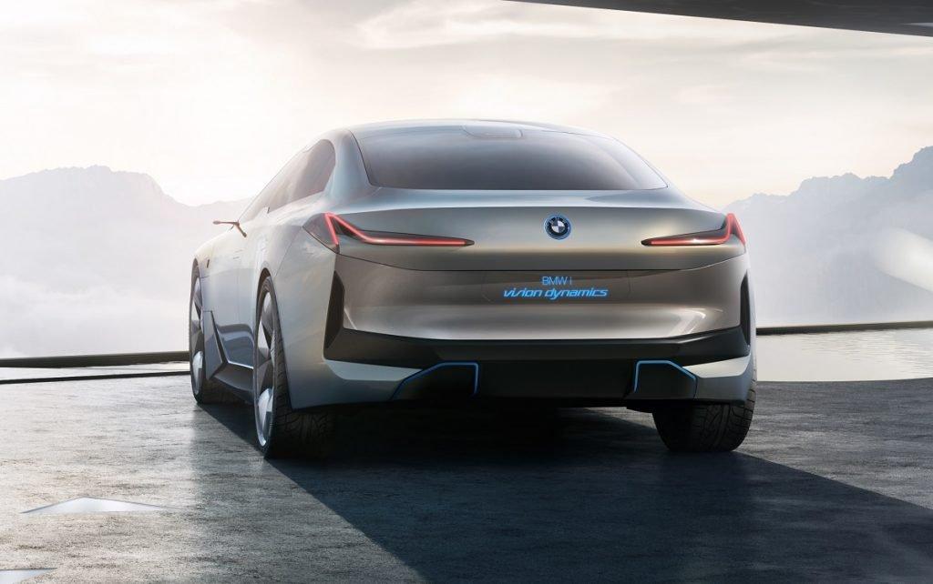 Imagen tres cuartos trasero del Concept que dará lugar al futuro BMW i4