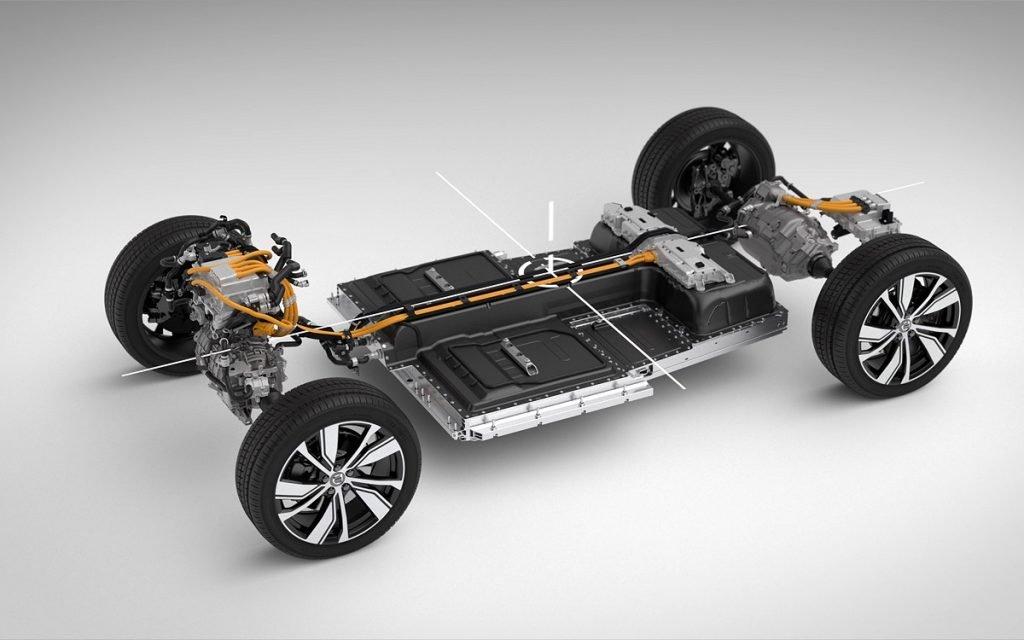 Imagen de la plataforma del Volvo XC40 eléctrico