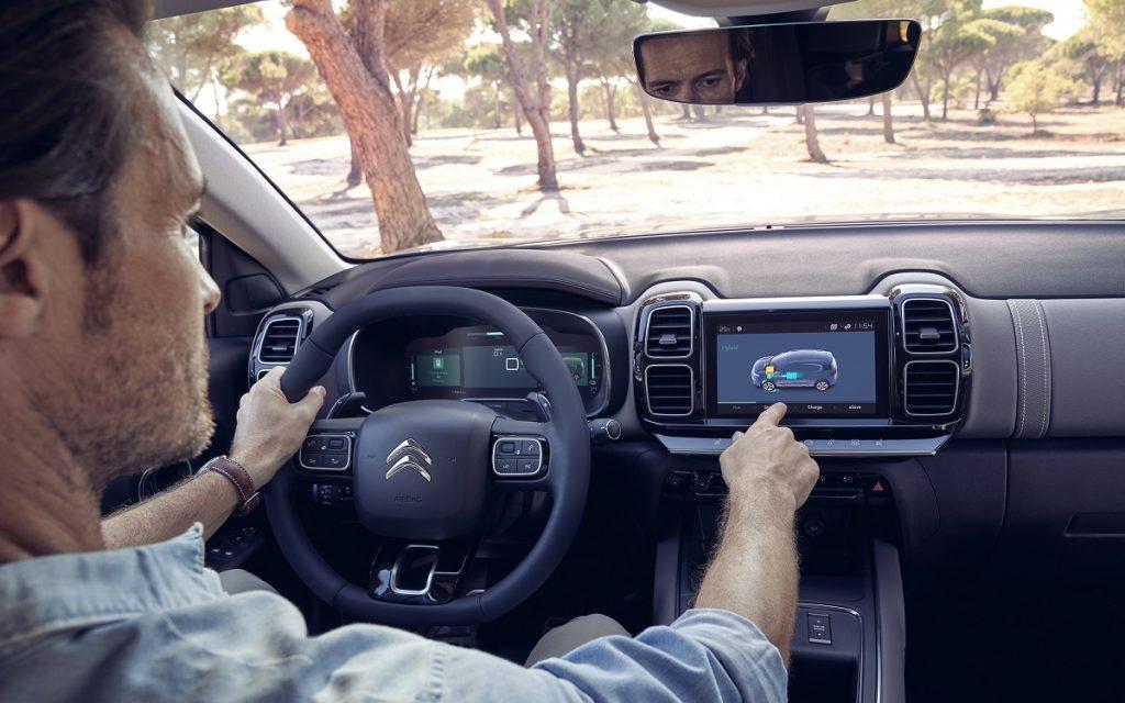 Interior del Citroën C5 Aircross Hybrid