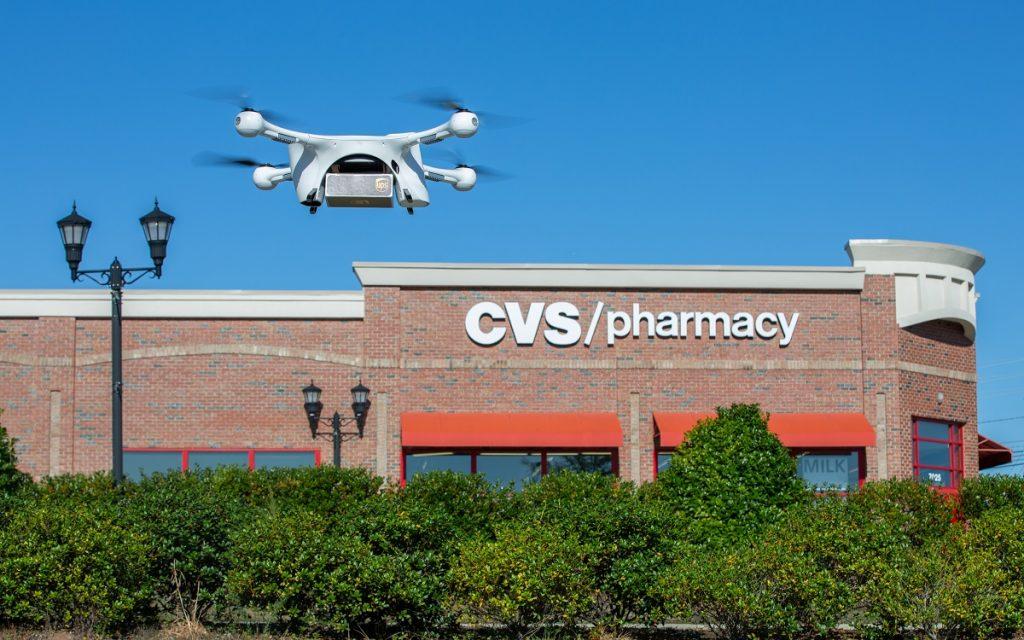 Imagen del Dron de UPS en vuelo