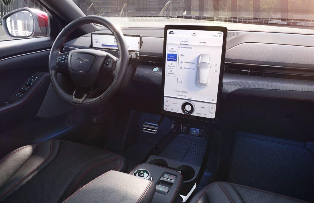 Imagen del interior del nuevo Ford Mustan Mach e