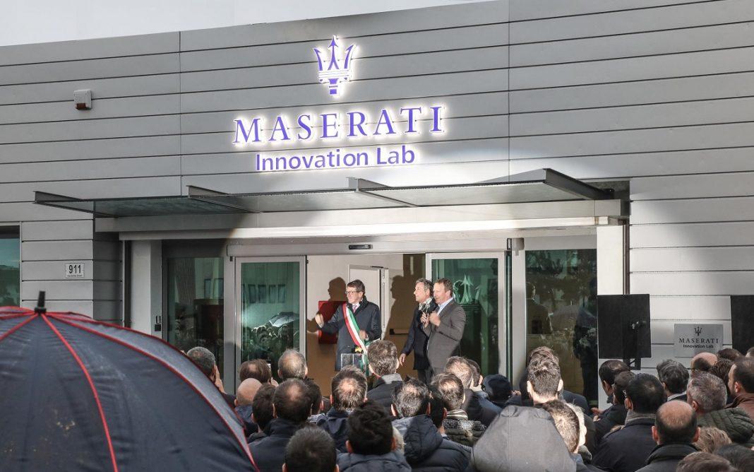 Fachada principal del Maserati Innovation Lab