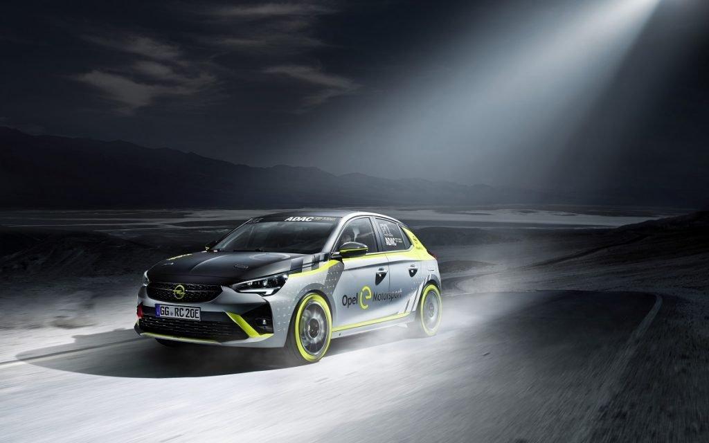 Imagen en acción del Opel Corsa e Rally R2