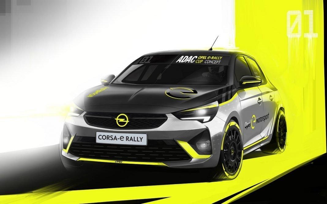 Boceto del Opel Corsa e Rally R2