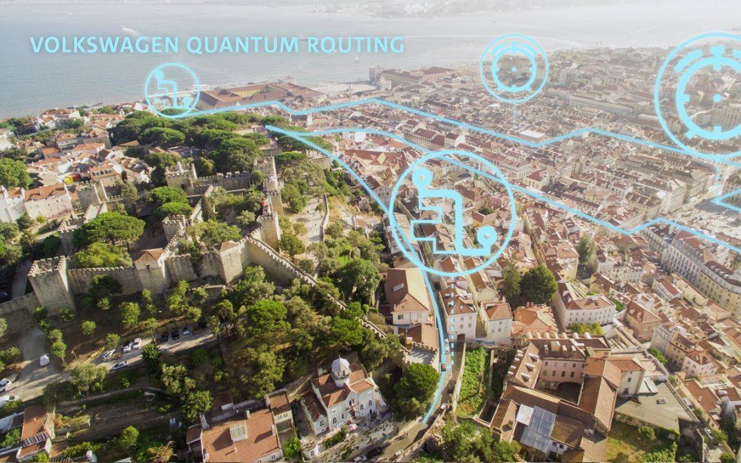 Imagen del Tráfico con Ordenadores Cuánticos de VW
