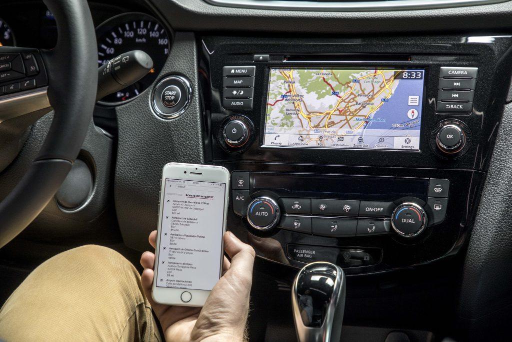 Imagen de un Nissan Qashqai Q-Line y su sistema multimedia