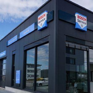 Imagen de la fachada de unos de los talleres Bosch Car Service
