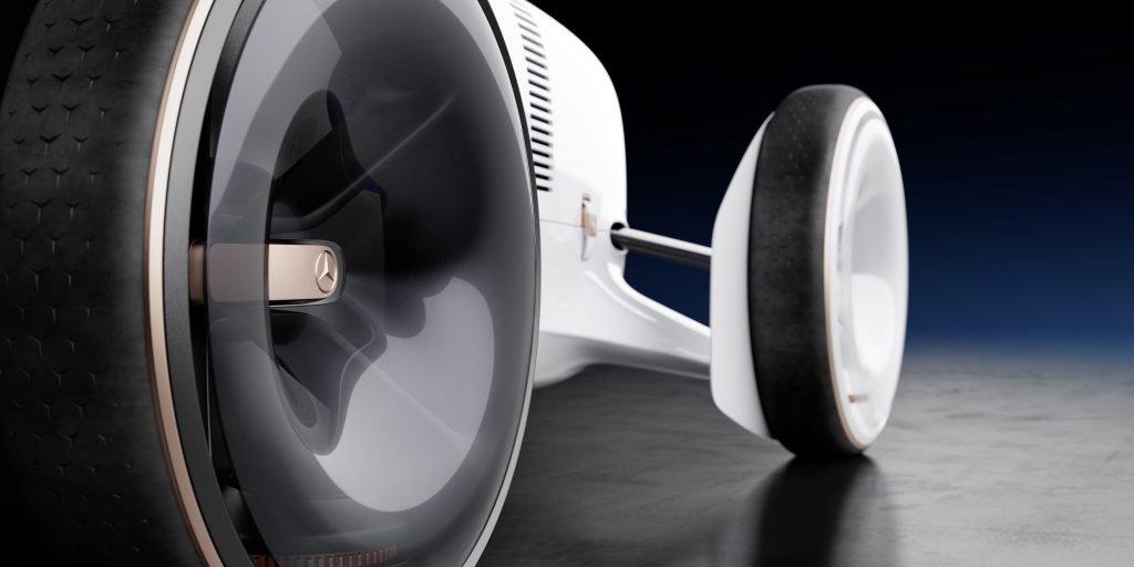 Vision Mercedes Simplex detalle llanta