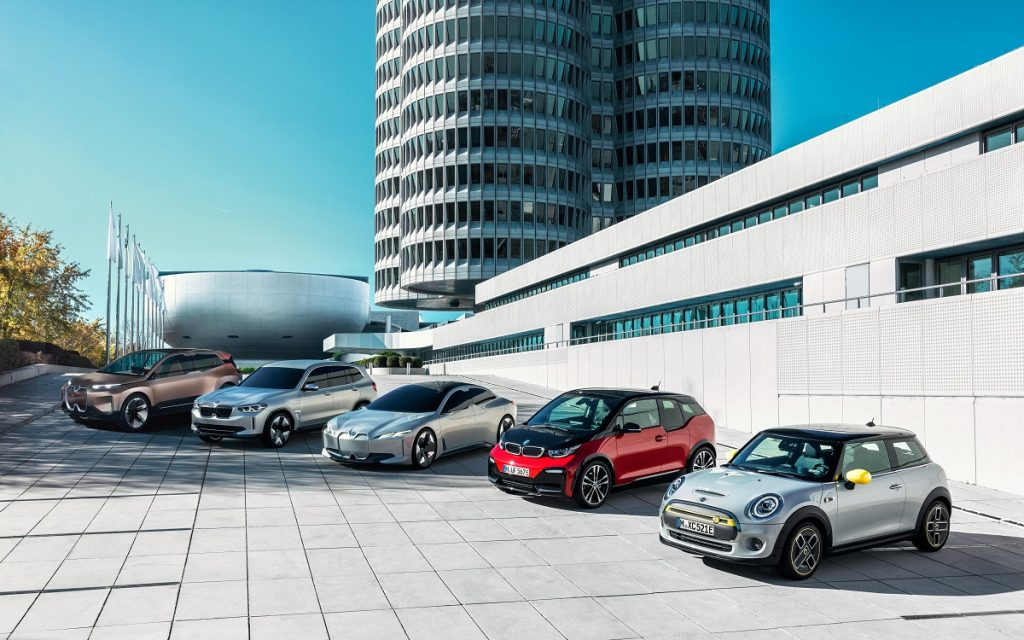 Imagen de la gama de eléctricos de BMW