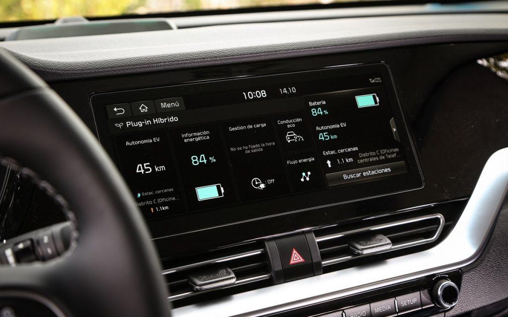 Imagen de la pantalla del sistema multimedia del Kia Niro 2019