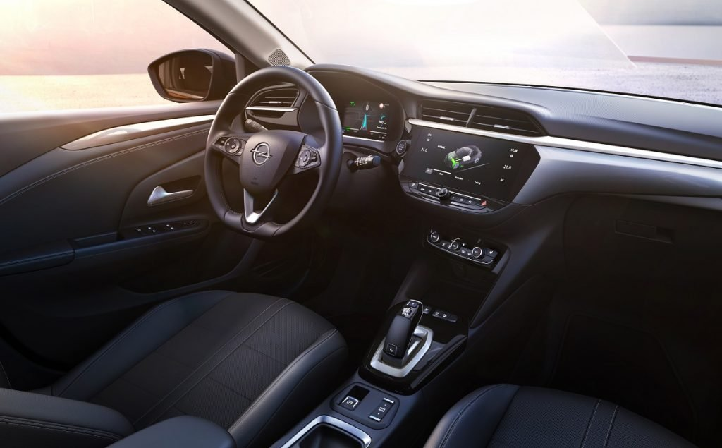 Imagen interior del Opel Corsa-e