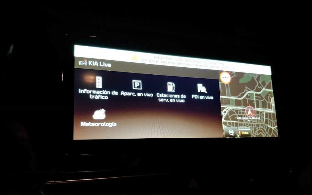 Pantallas del sistema multimedia del Kia Niro con UVO