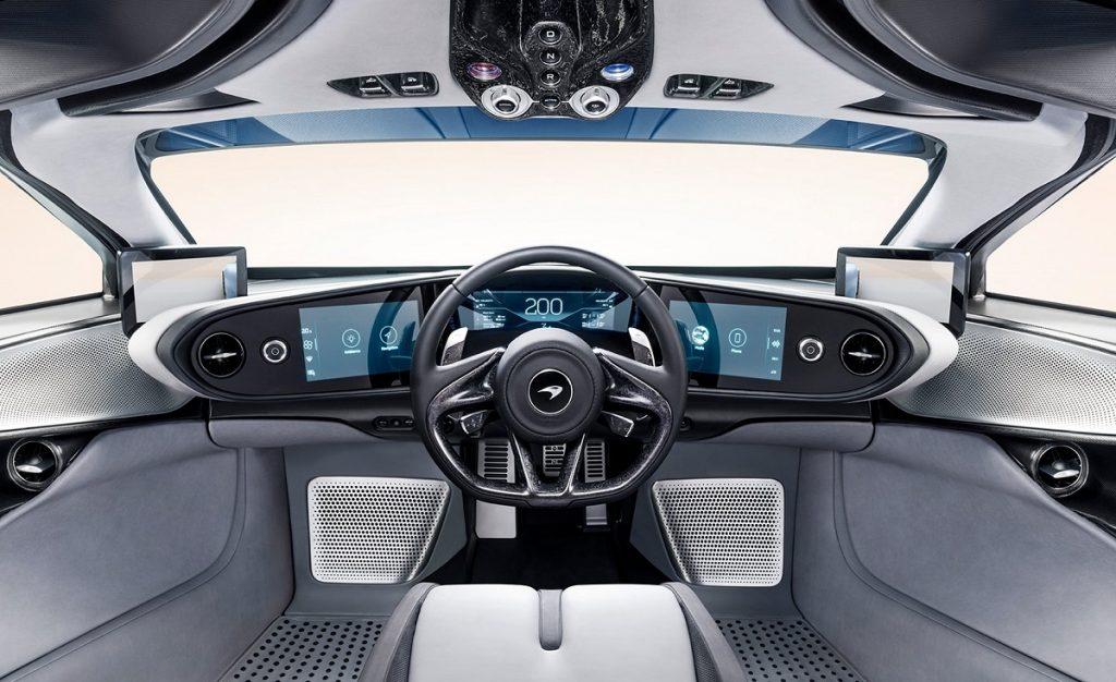 Imagen interior del McLaren Speedtail