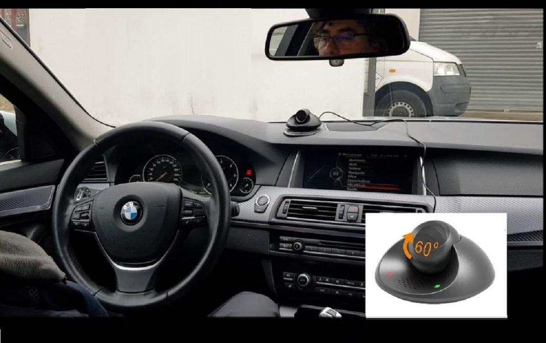 Imagen del monitor que mide la fatiga y las distracciones al volante