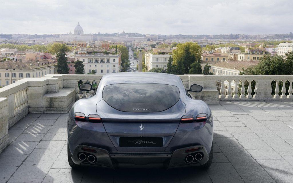 Parte trasera del Ferrari Roma