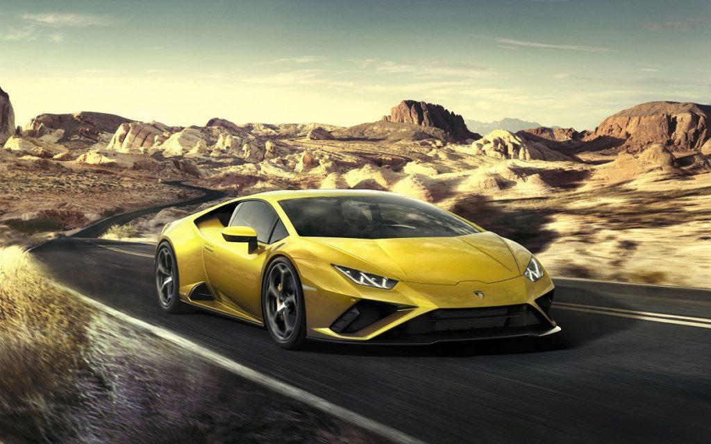 Imagen frontal del Lamborghini Huracán Evo