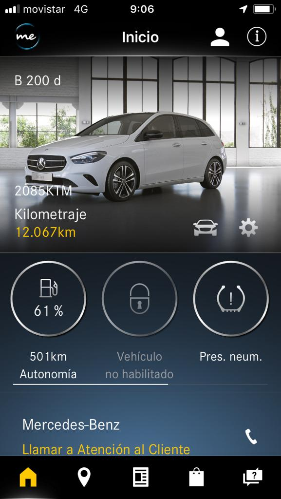 Captura 1 de la Mercedes Me App