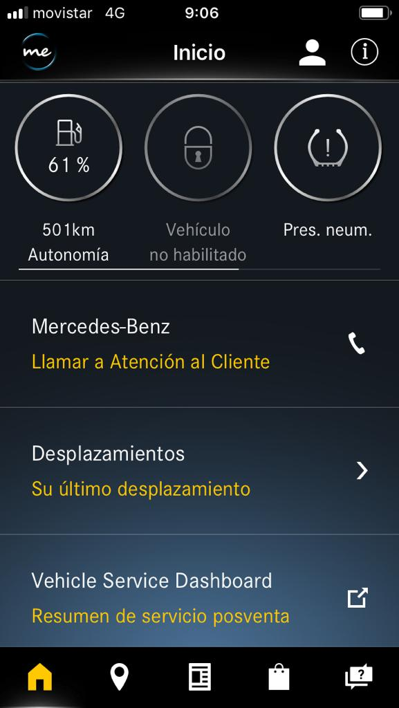 Captura 2 de la Mercedes Me App