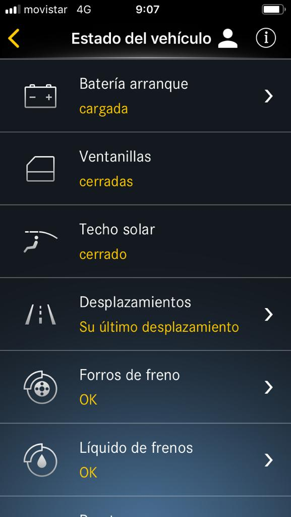Captura 4 de la Mercedes Me App
